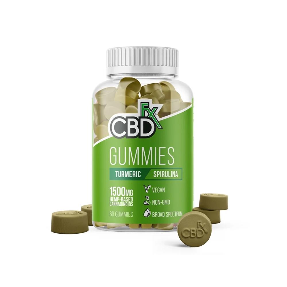 CBDFx Gummies Turmeric Spirulina (1500mg hemp-based)