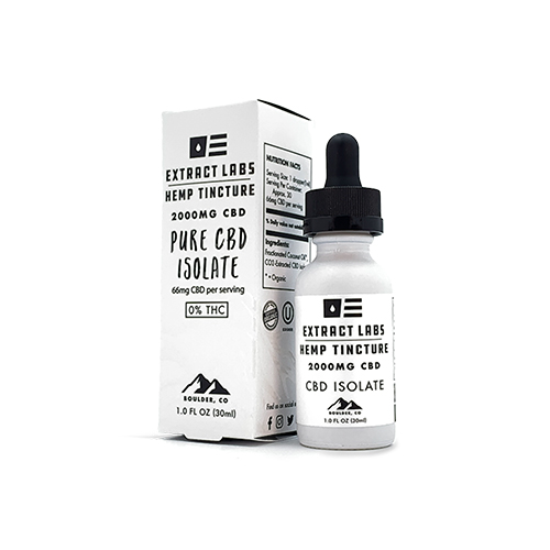 Exract Labs Pure CBD Isolate Tincture 2000mg