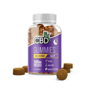 CBDfx CBD Melatonin Gummies 50mg Broad Spectrum