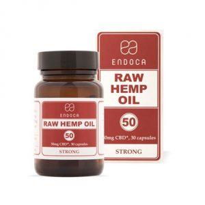 Endoca Raw CBD Capsules 50mg