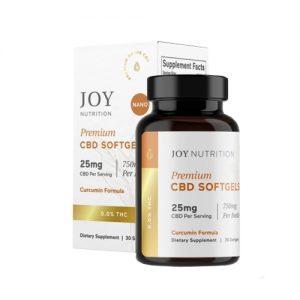 Joy Organics CBD Review Capsules 25mg with Curcumin Broad Spectrum
